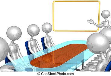 presentación, reunión