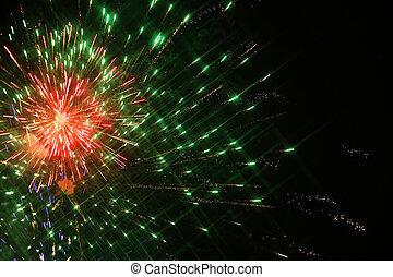 Fireworks light in sky