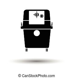 Vacuum cleaner icon. White background with shadow design....