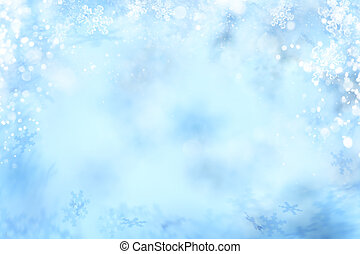 Snowflake Background, Winter Snow Flake Abstract Backgrounds...