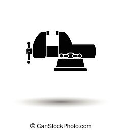 Vise icon. White background with shadow design. Vector...