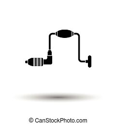 Auger icon. White background with shadow design. Vector...