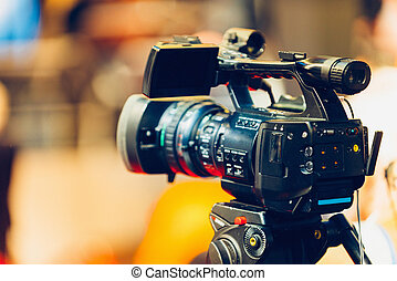 Television camera on event