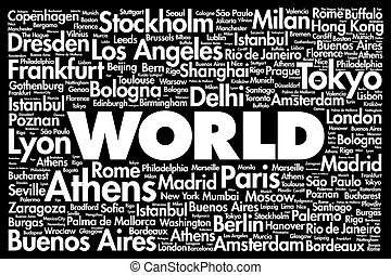 WORLD word cloud concept