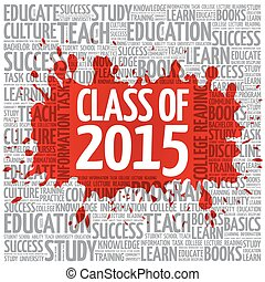 CLASS OF 2015 word cloud, education concept background