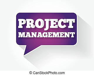 Project Management text message bubble
