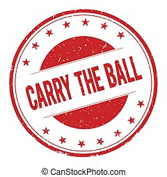 CARRY-THE-BALL stamp sign