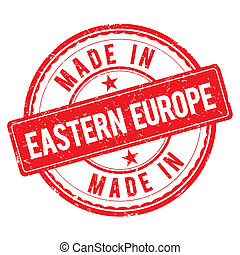 Made in EASTERN EUROPE stamp