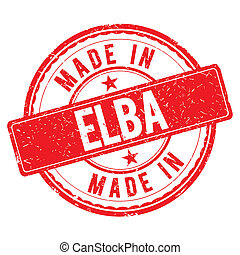 Made in ELBA stamp