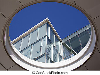 Wellington Abstract Architecture - The view through the hole...