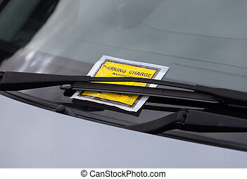 Parking ticket - Penalty charge ticket for illegal car...