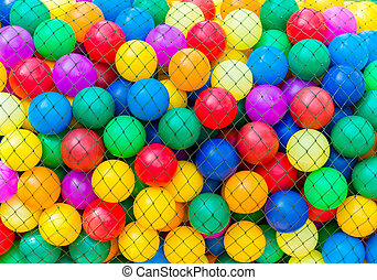 colorful ball in net