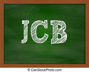 JCB handwritten text on green chalkboard - JCB handwritten...