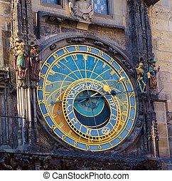 Prague Astronomical Clock - Close up of Prague ancient...