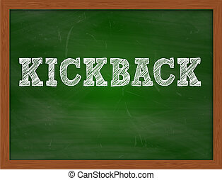 KICKBACK handwritten text on green chalkboard - KICKBACK...