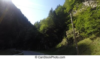 Canyon road - Dambovicioara Gorges, a veritable canyon cut...