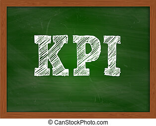 KPI handwritten text on green chalkboard - KPI handwritten...