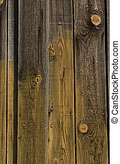 Rustic planks - A set of rustic gnarled planks fixed with...