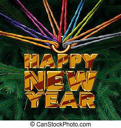 Happy New Year Together - Happy New Year together concept as...