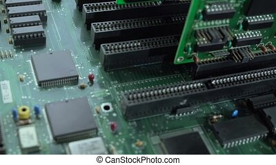 Processor on motherboard view - Hardware. Motherboard and of...