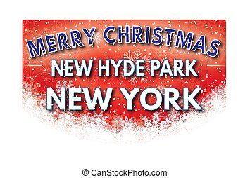 NEW HYDE PARK NEW YORK Merry Christmas greeting card - NEW...