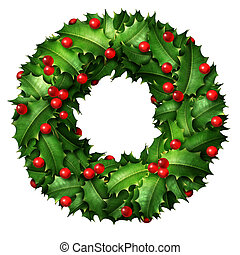 Holly Holiday Wreath