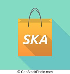 Long shadow shopping bag with the text SKA - Illustration of...
