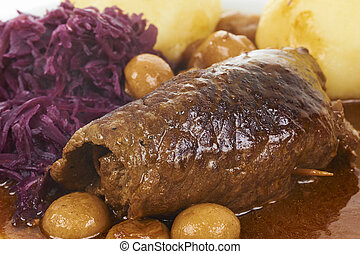 German Food - Traditional German Food Beef Roll With Potato...