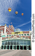 Convention Hall at beach in Asbury Park NJ.