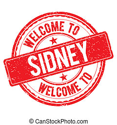 Welcome to SIDNEY Stamp. - SIDNEY. Welcome to stamp sign...
