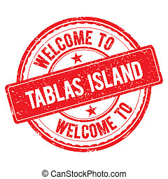 Welcome to TABLAS ISLAND Stamp. - TABLAS ISLAND. Welcome to...