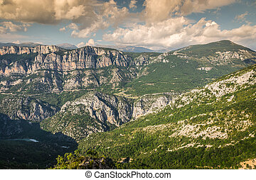Beautiful landscape of the Gorges Du Verdon in south-eastern...