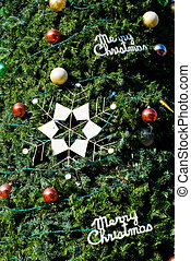 Christmas tree with balls and star decoration