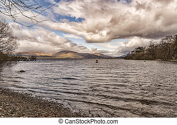 View of loch lomond - View of loch Lomond near Balloch in...