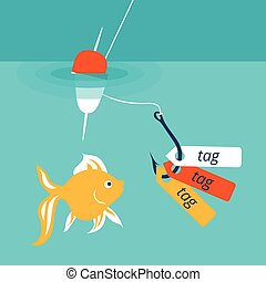 Vector illustration showing a catchy tag