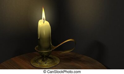Wax candle - The high-quality looping animation of the...