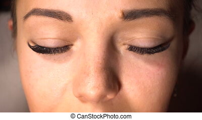 Portrait of woman with long eyelash - Portrait of beauty...