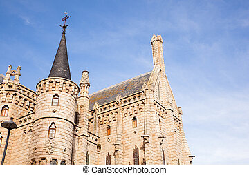 The Episcopal Palace, Modernisme edifice in Astorga - View...