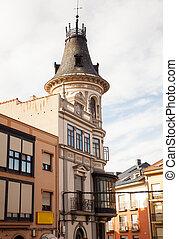 Belltower of a Church, Astorga - View of belltower of a...