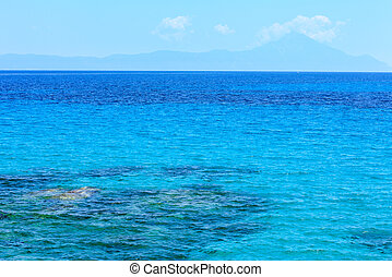 Aegean sea (Chalkidiki, Greece). - Aegean sea landscape with...