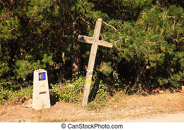 Cross along the way of St. James, Spain