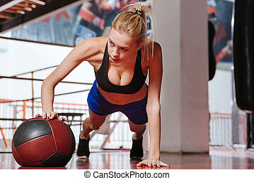 Pretty sexy boxer working out - One more time. Attractive...