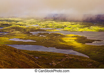 Beautiful rugged landscape in Inverpolly, Highlands of...