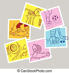 abstract sports cards