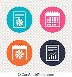 Ventilation sign icon. Ventilator symbol. - Report document,...