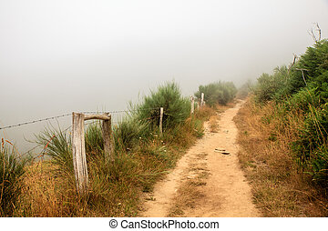 View of Galicia path along the way of St. James