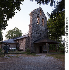 The San Andres church, La Faba - View of the San Andres...