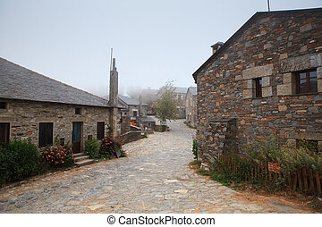 View of typical houses of Cebreiro, Spain - View of typical...