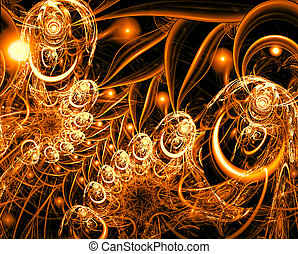 Abstract fractal ornament - digitally generated image -...