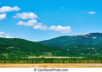 Bulgarian Landscape with Mountains in Plovdiv region